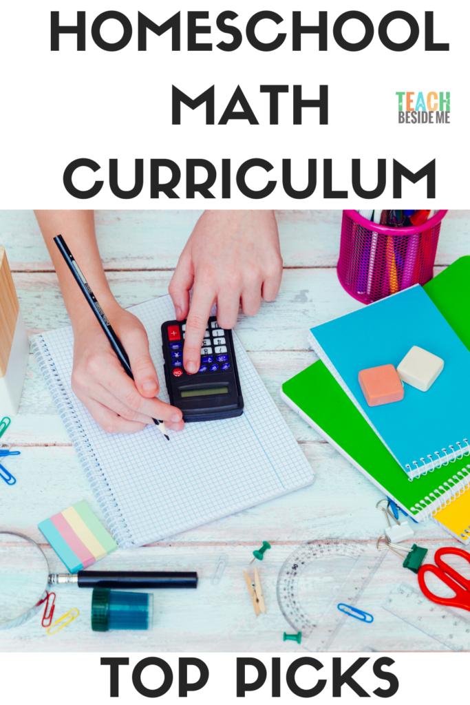 homeschool math curriculum- top picks