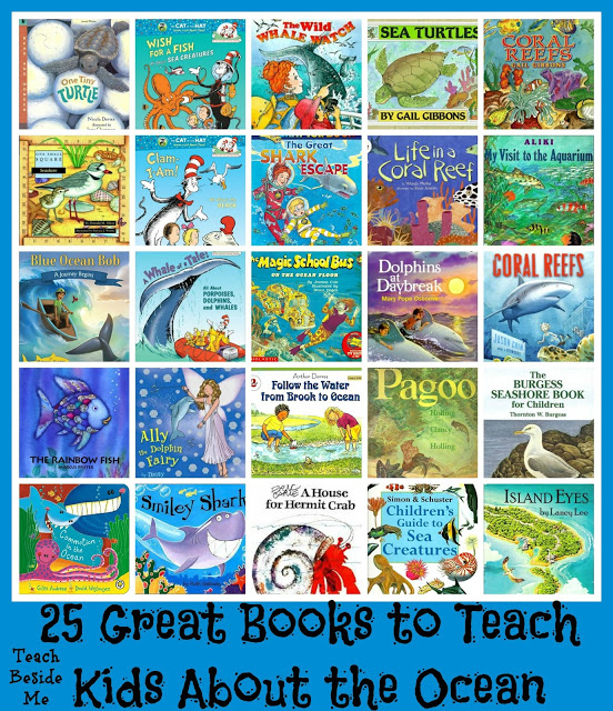 25 Ocean Books for Kids & Snapping Fish Craft