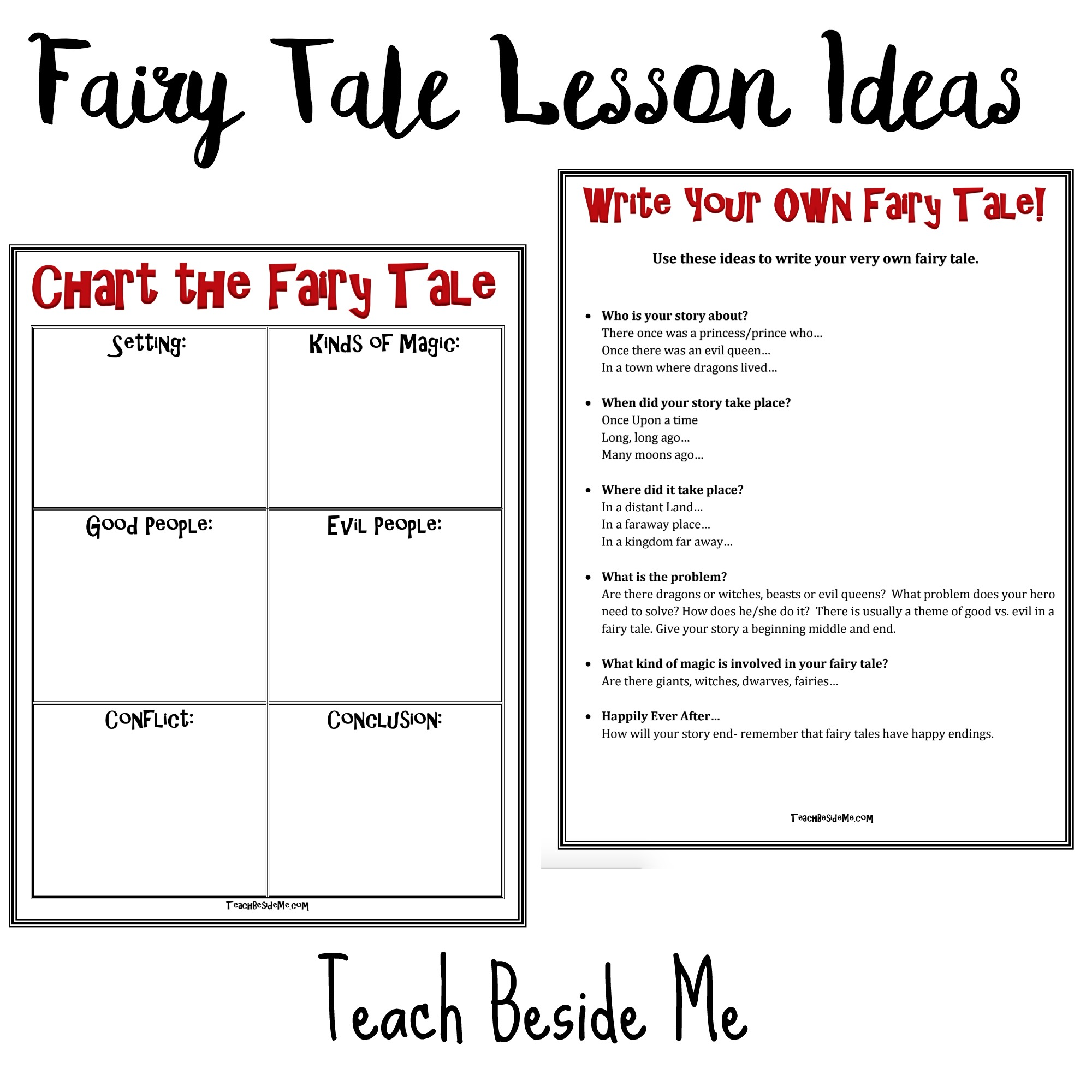 Worksheets Fairy Tale Worksheets fairy tale lesson ideas with hans christian andersen teach beside me