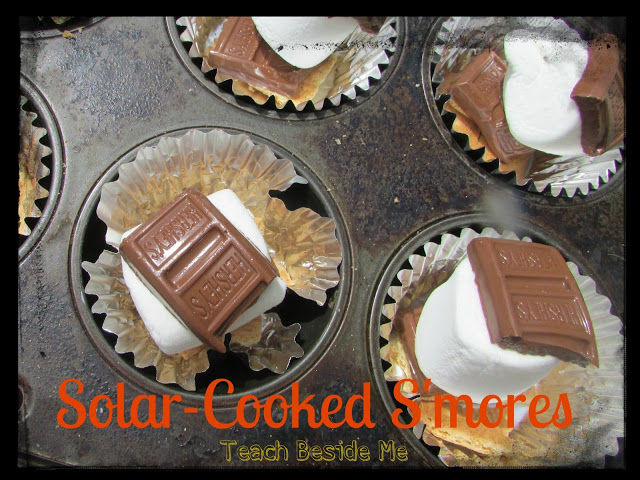 smores- solar cooked