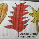 Stained Glass Fall Leaf Art