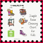Room Cleaning Chart for Toddlers and Preschoolers