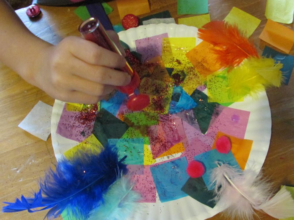 rainbow bird craft