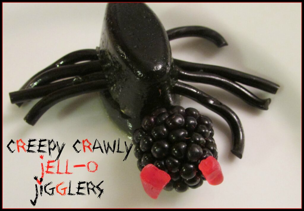 jell-o spiders- Halloween food