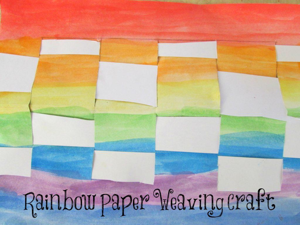 Rainbow Paper Weaving Craft