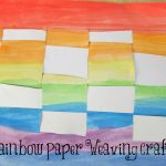 Rainbow Woven Paper Craft