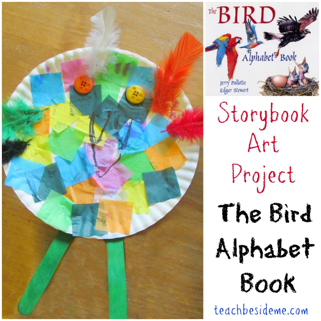 Rainbow Bird Alphabet Craft