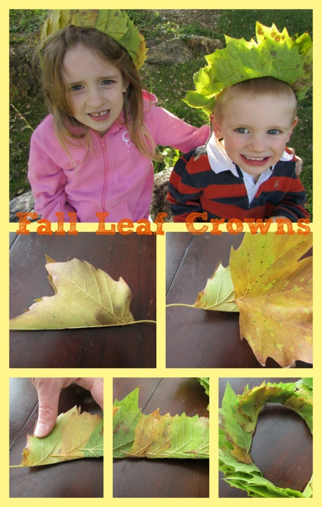 autumn nature craft- leaf crowns