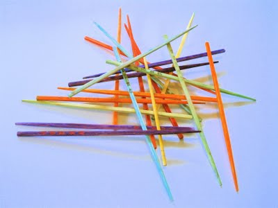 homemade pick-up sticks