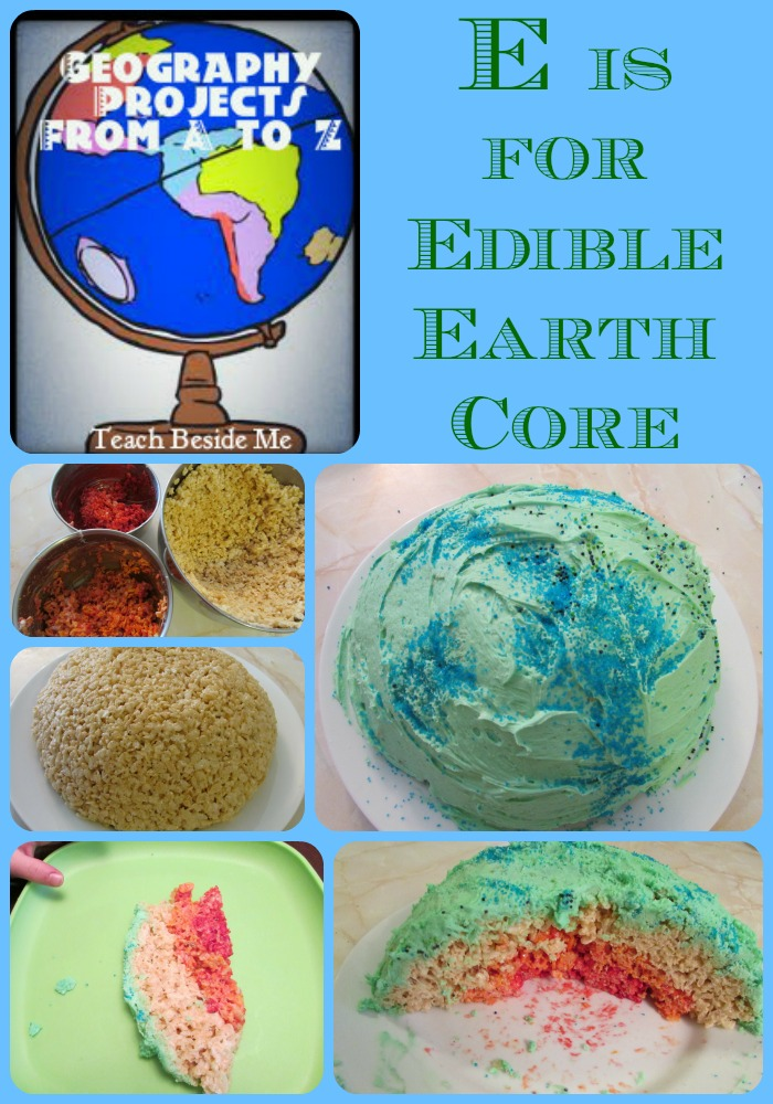 Edible Eath's Core layers of the earth project