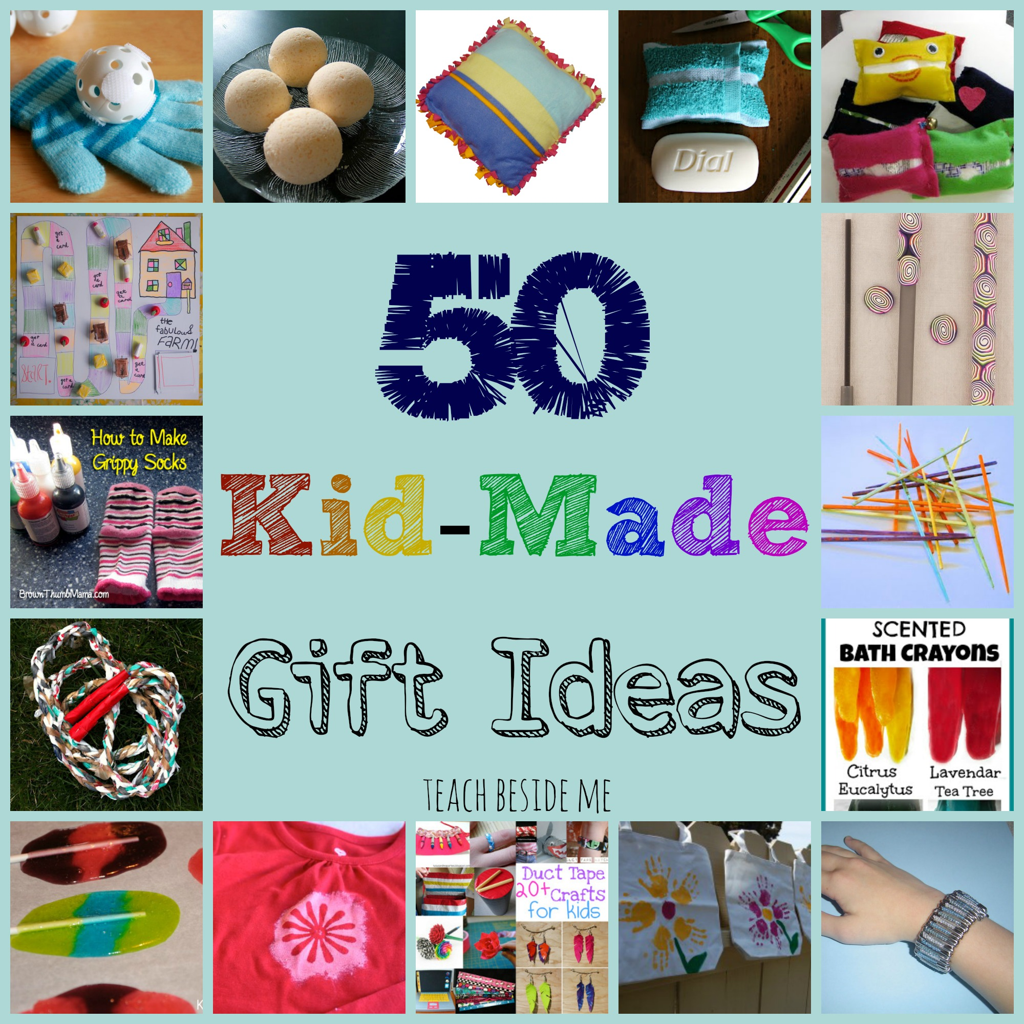 Kid made gift ideas for family teach beside me this year i am collecting a bunch of kid made gift ideas that could be made for parents grandparents cousins or siblings negle Image collections