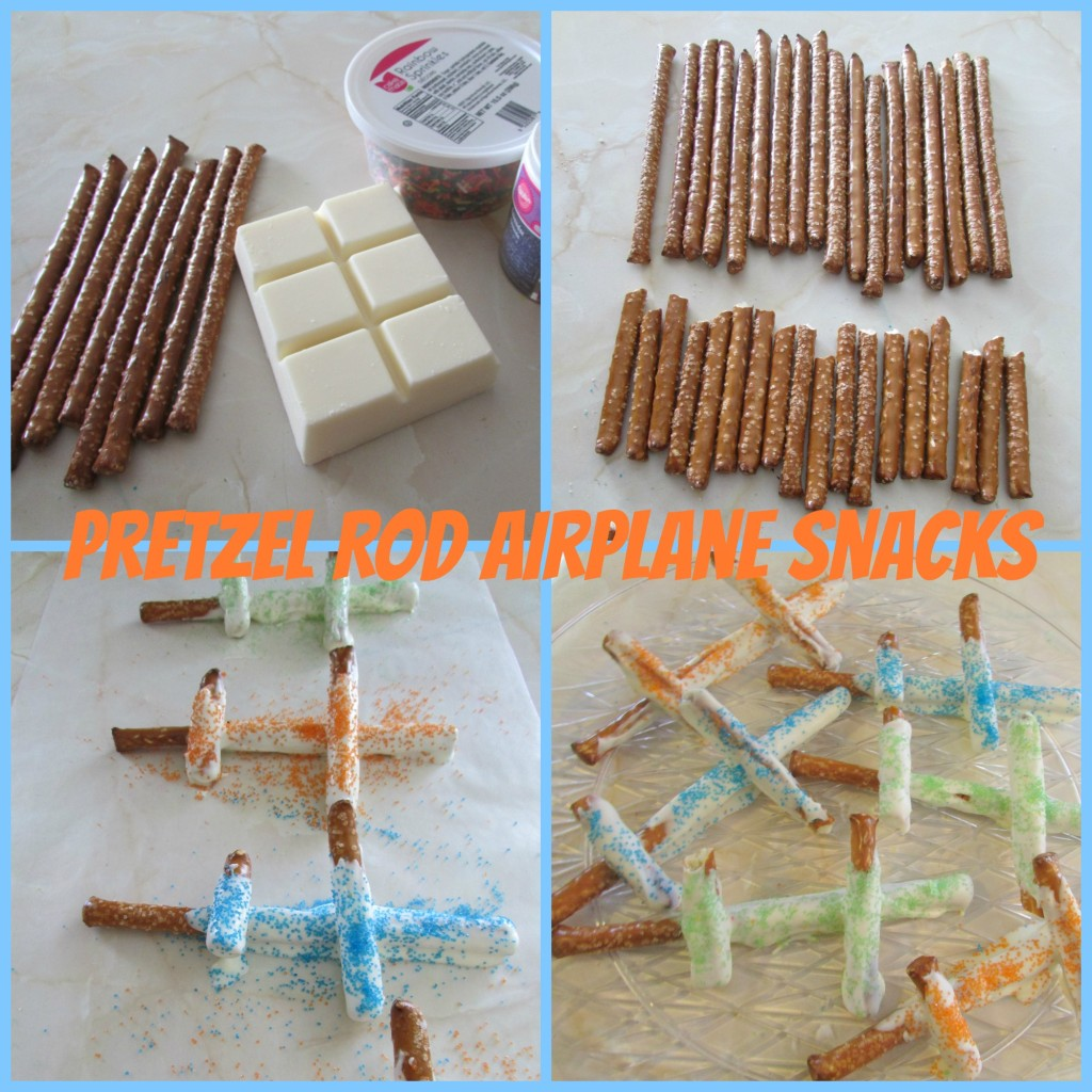 pretzel airplane snack