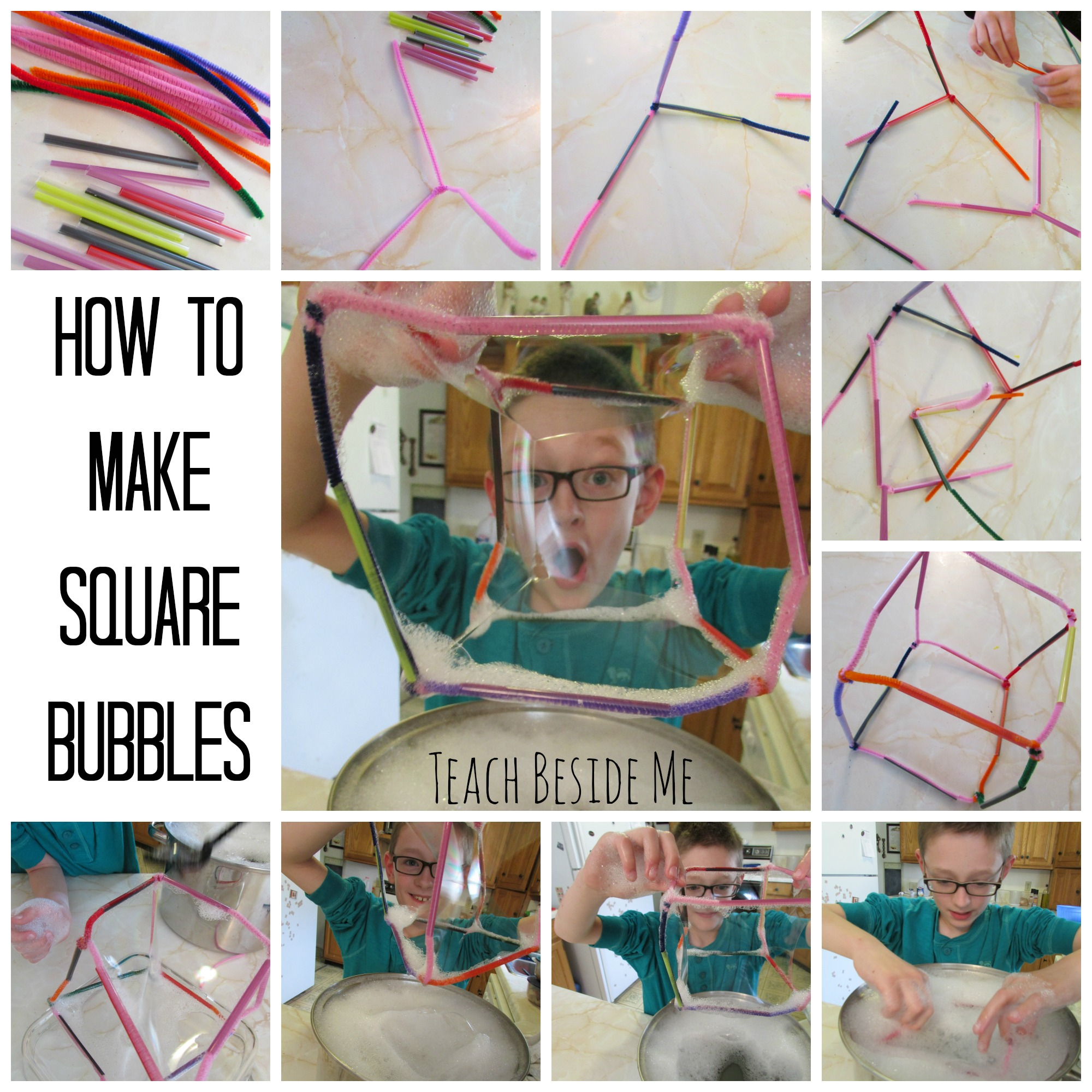 Bubble science square bubbles teach beside me for How to make bubbles liquid at home