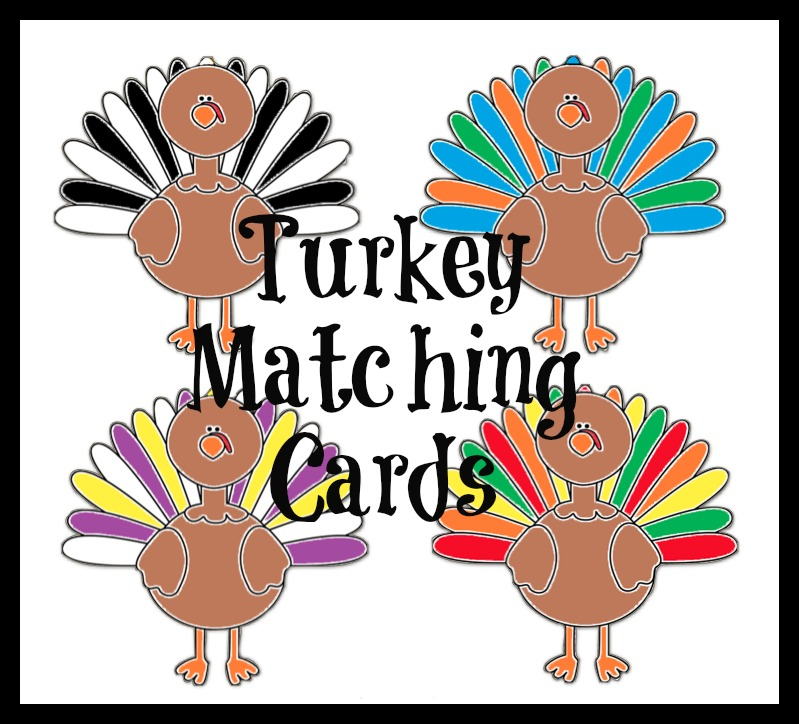 turkey feather matching cards