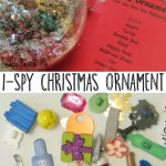 Kid-Made I-Spy Christmas Ornament