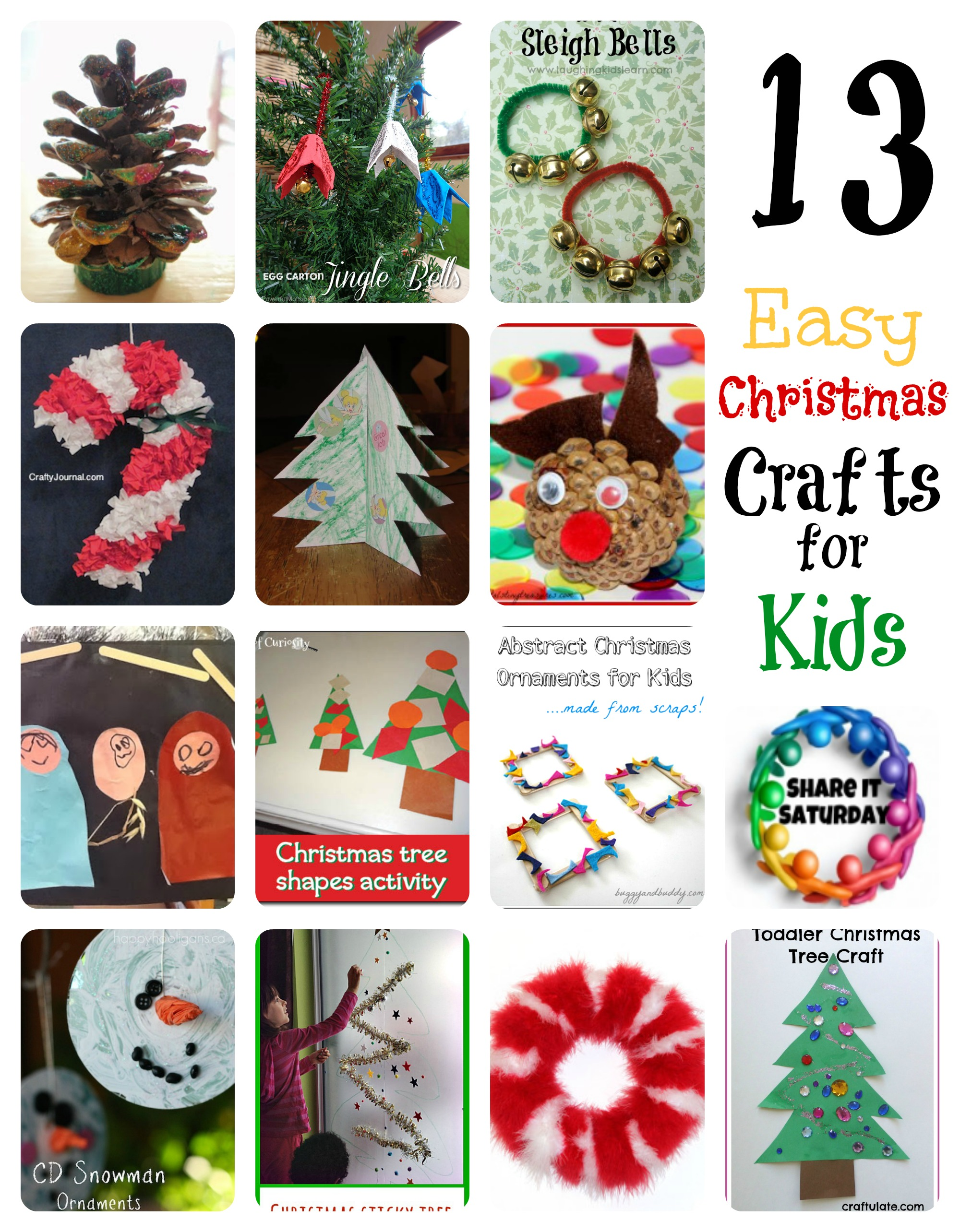 Christmas crafts for kids 25 fun and easy holiday crafts Christmas crafts for kids to make at home