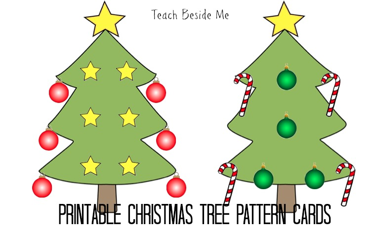 christmas tree pattern cards