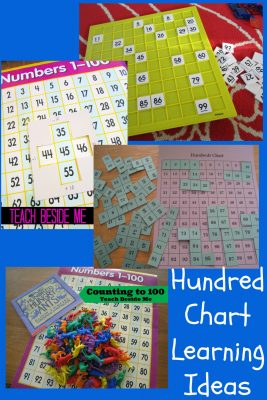Hundred Chart Learning Ideas from Teach Beside Me