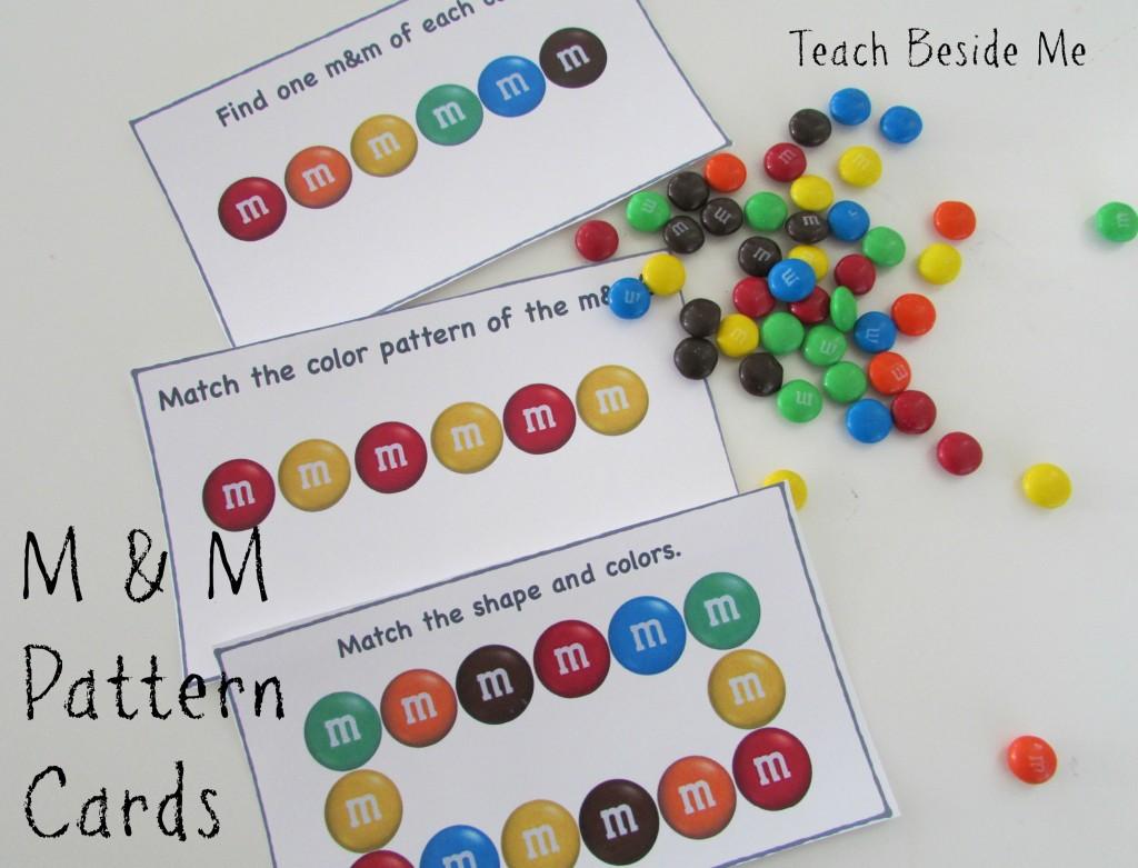 Printable M & M pattern cards