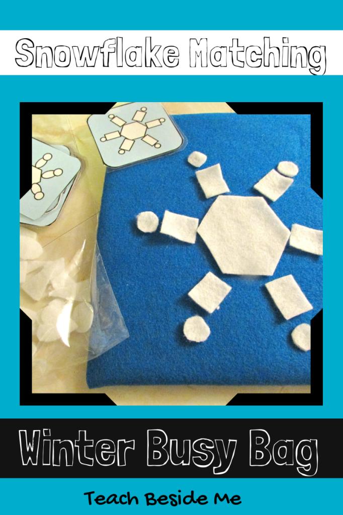 snowflake winter busy bag
