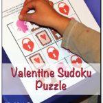 Valentine Sudoku Printable Puzzle