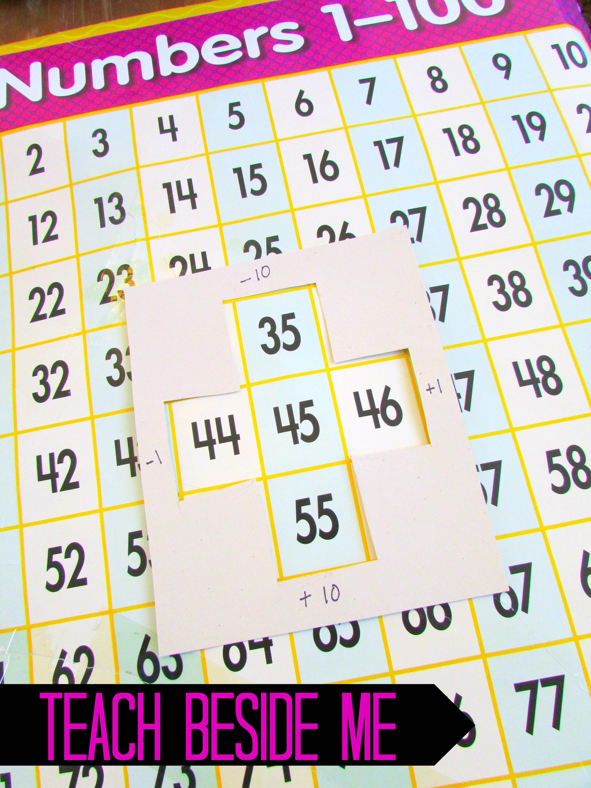 worksheet Hundred Chart hundred chart learning ideas teach beside me learning