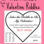 Free Printable Valentine Riddle Cards