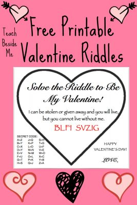 Valentine Riddle Cards