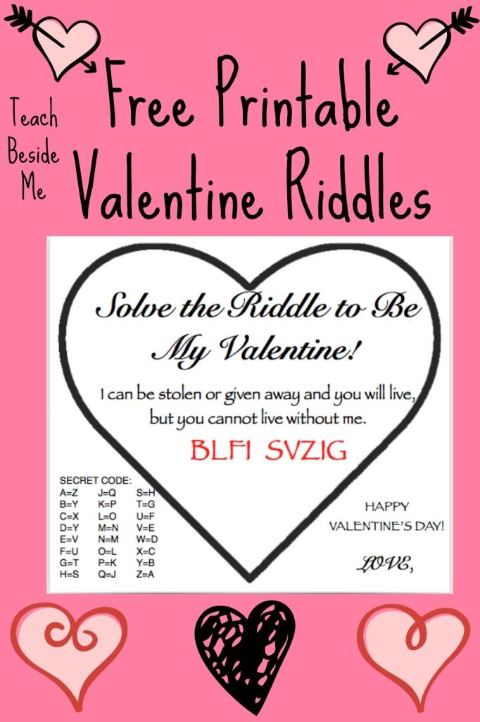 printable valentine riddles
