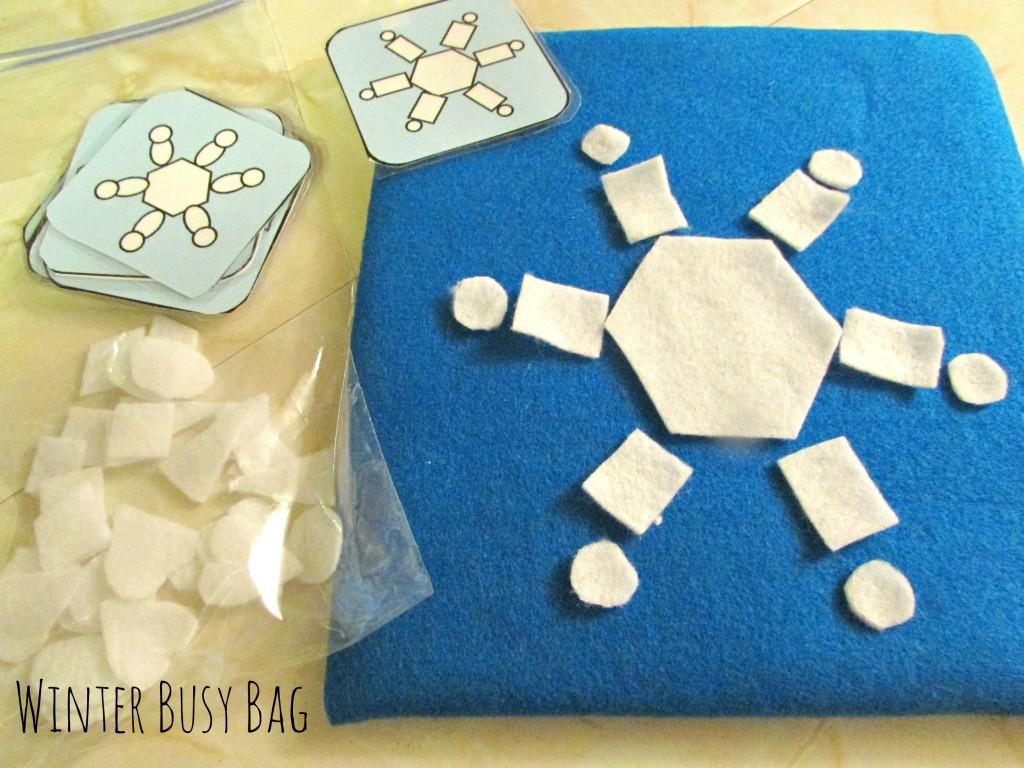 winter busy bag idea