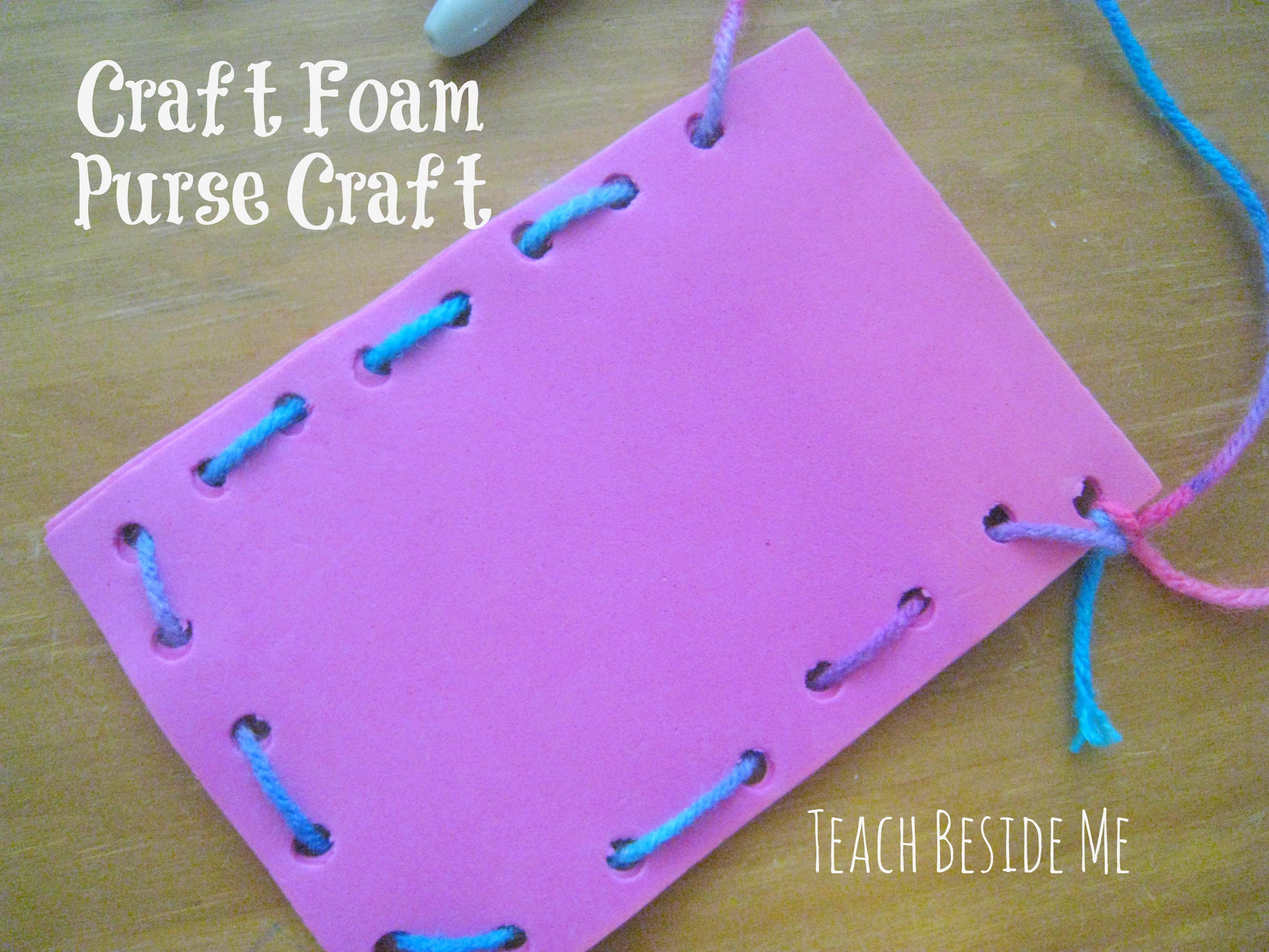 Craft foam purse craft