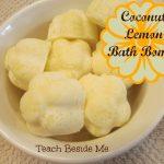 Coconut-Lemon Bath Bombs
