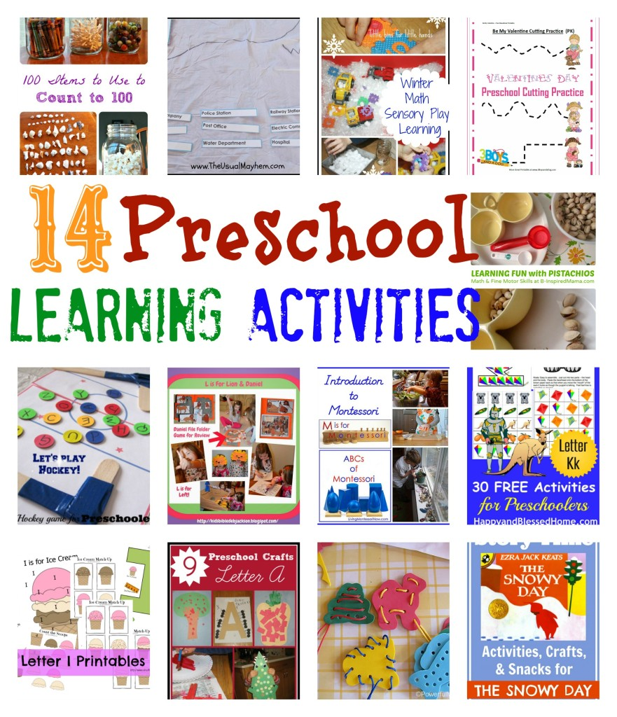 preschool learning activities