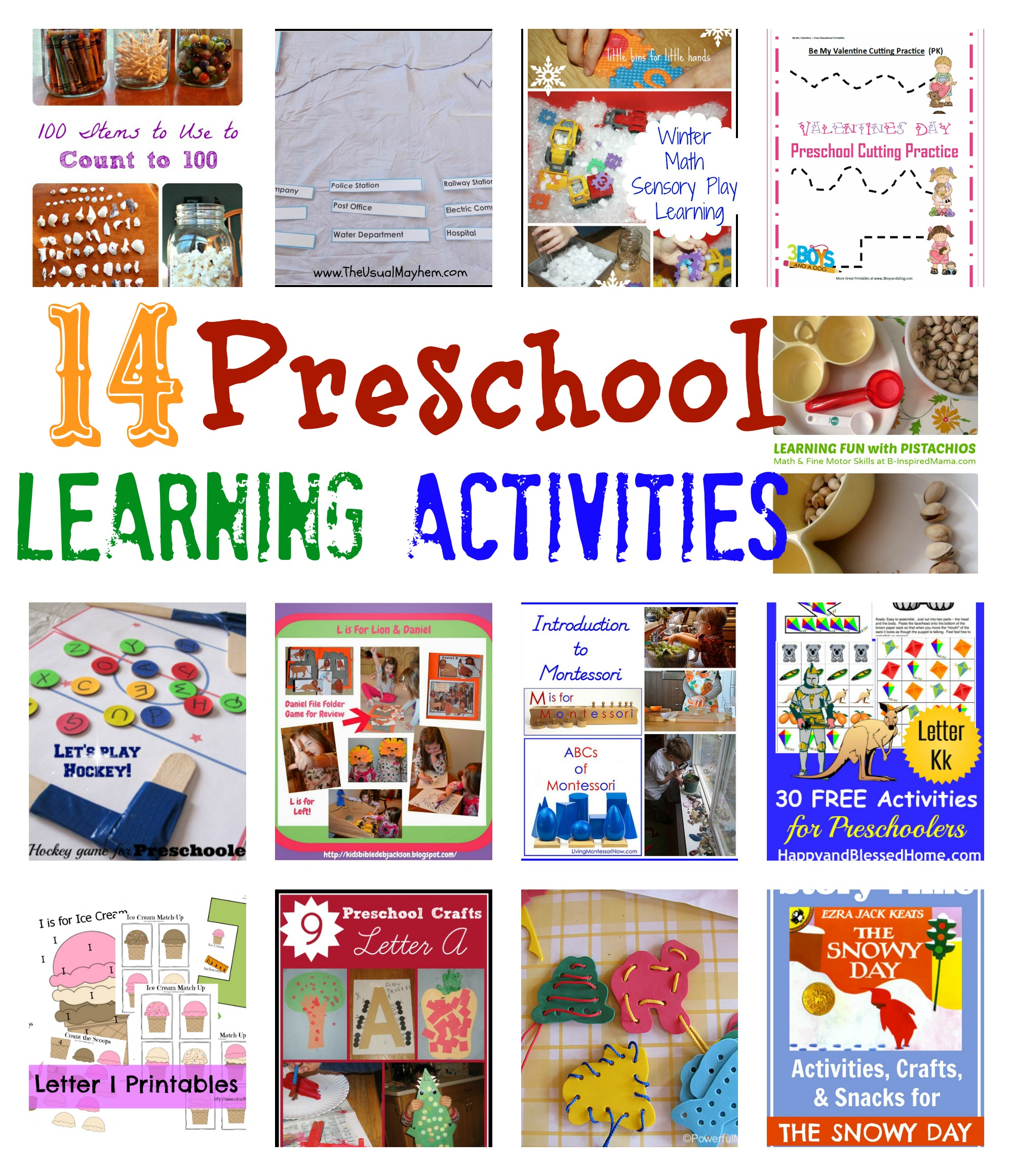 Preschool Learning Activities from Share It Saturday - Teach Beside Me