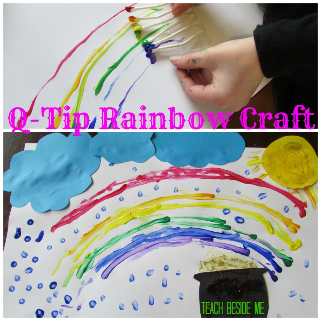 Q-Tip Rainbow Craft for kids
