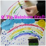 Q-Tip Rainbow Craft