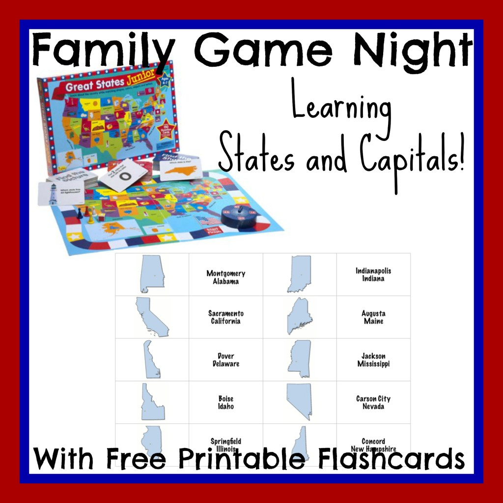 States and Capitals Flashcards