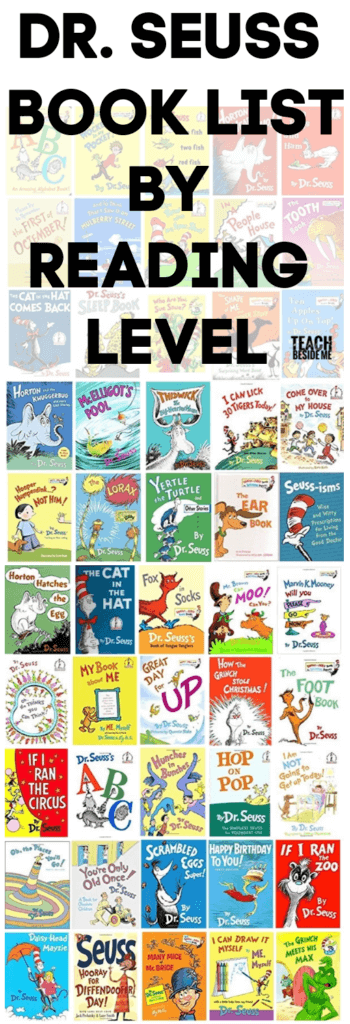 list of dr Seuss books by reading level