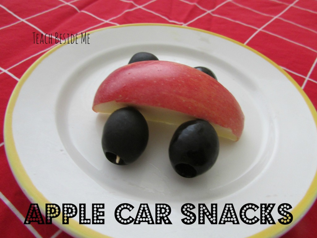 preschool letter C car snack