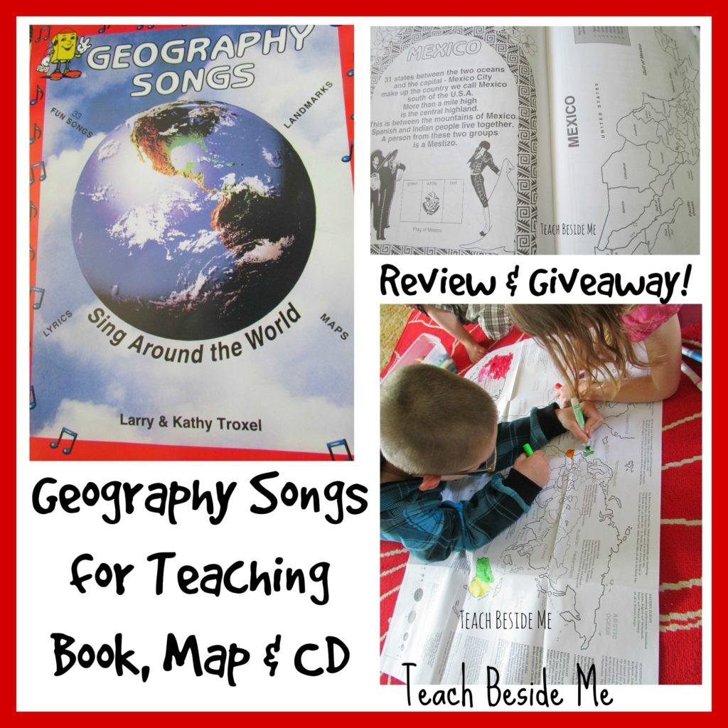 Geography Songs for Kids Review and Giveaway at Teach Beside Me
