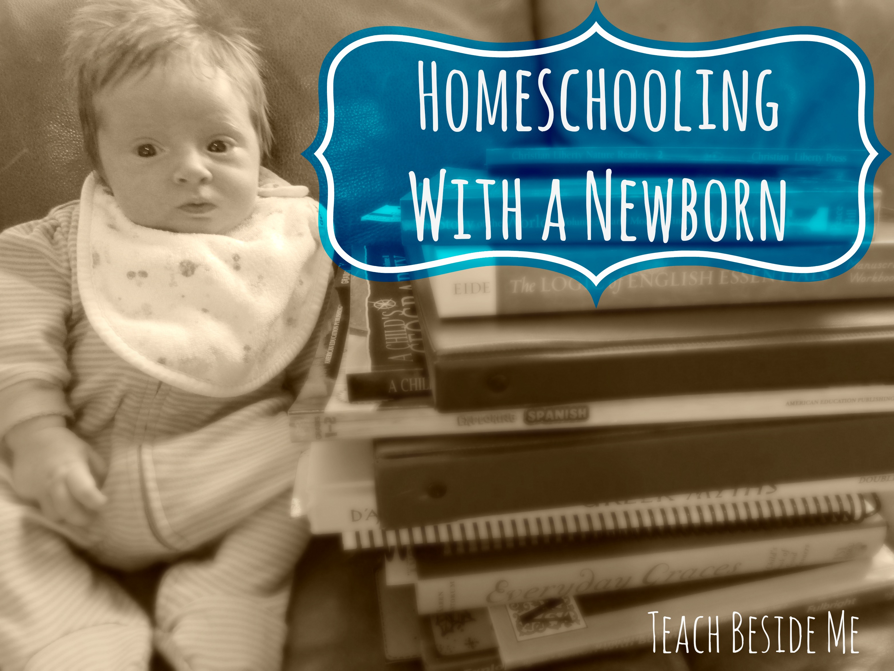 Homeschooling With A Newborn Homeschooling With A Newborn Teach Beside Me