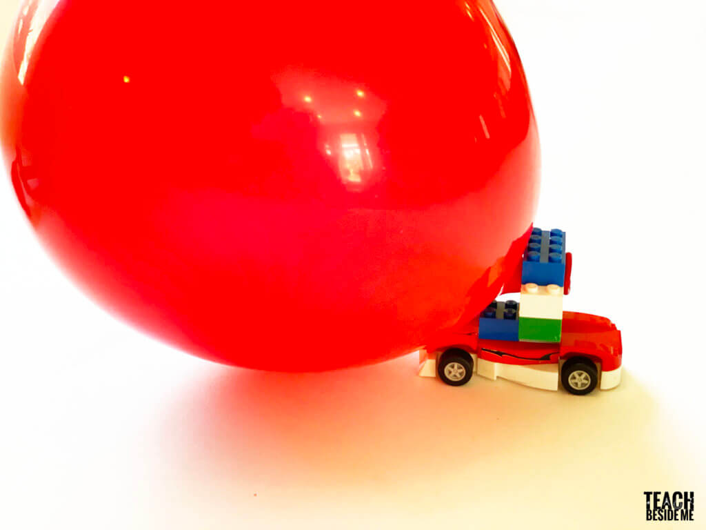 balloon car made with lego