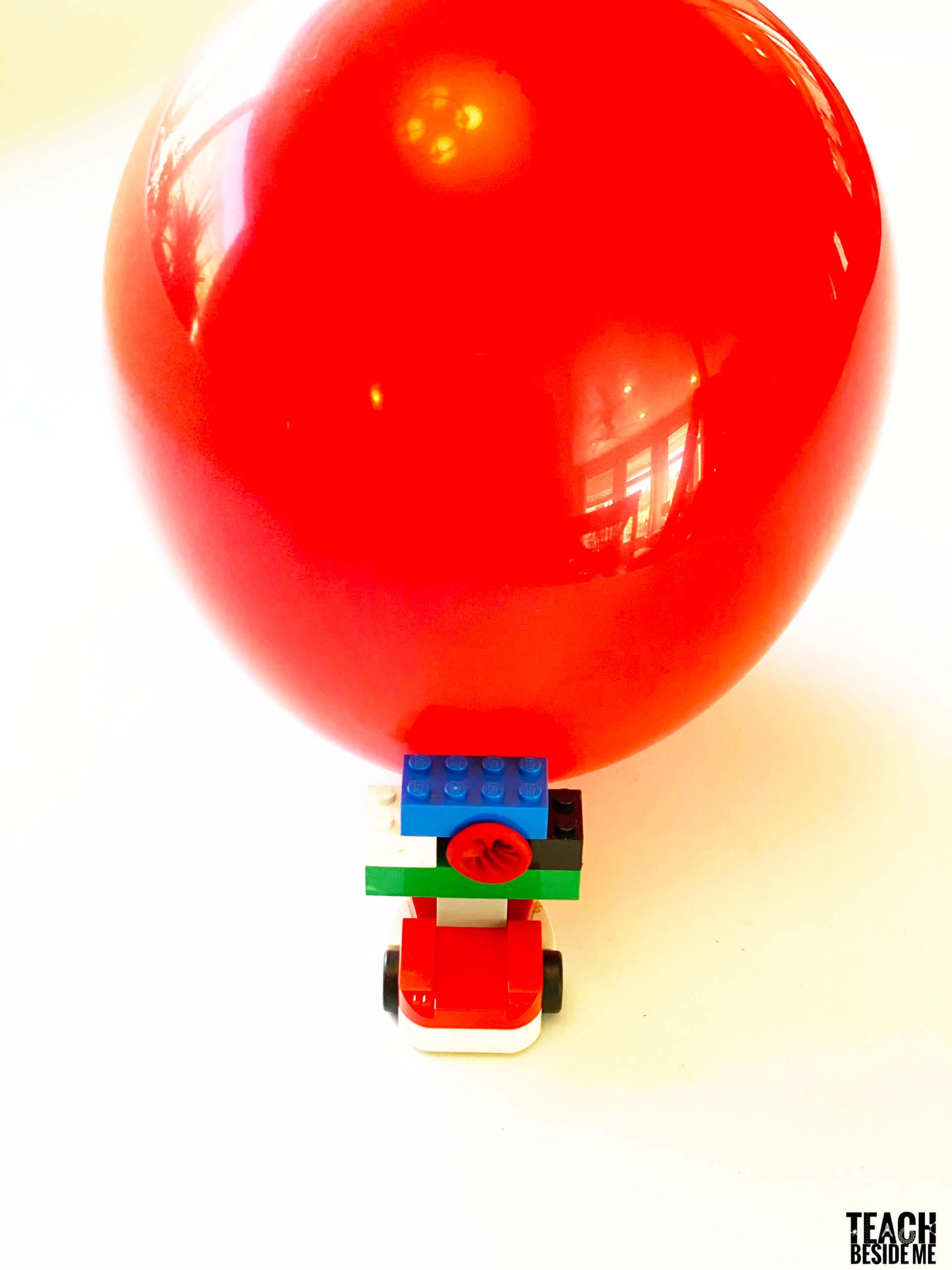 Lego Balloon Powered Car If I Built A Car Teach Beside Me