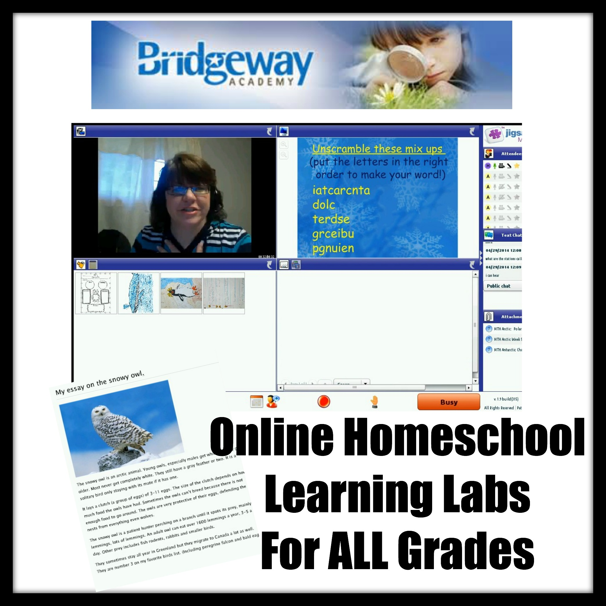 Online Homeschool Classes with Bridgeway Academy