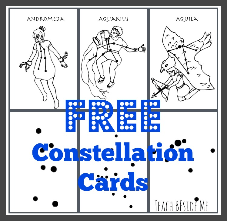 Free Constellation Cards from Teach Beside Me
