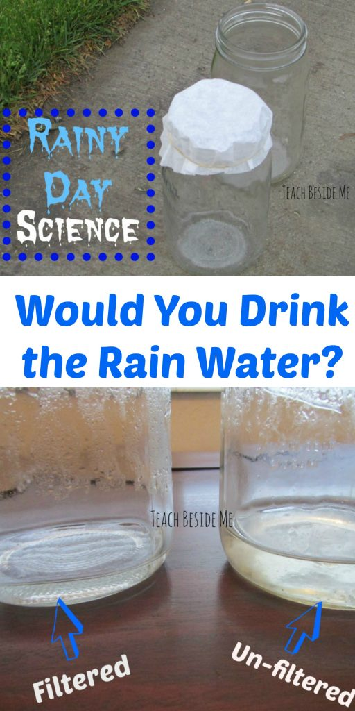 Rainy day science- filtering rain water