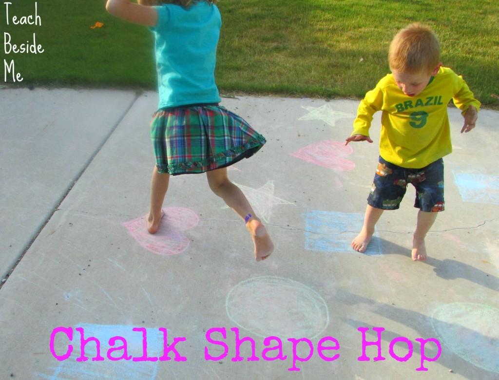 Chalk Shape Hop Game