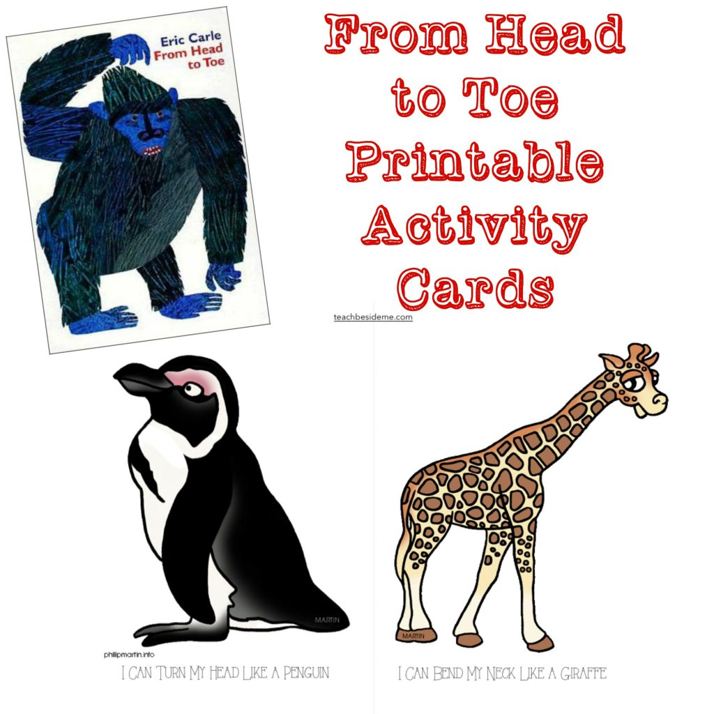 from head to toe activity cards - Printable Activity