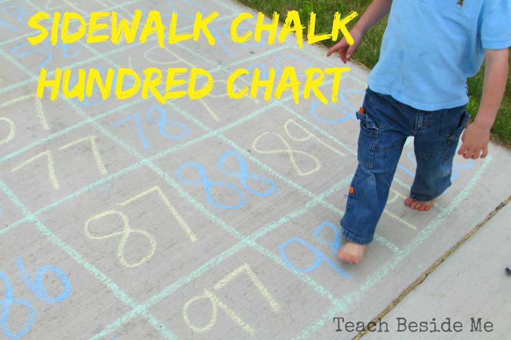Sidewalk Chalk Hundred Chart