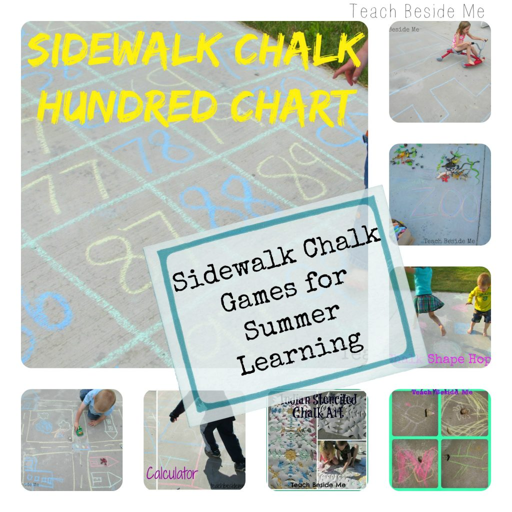 Summer Sidewalk Chalk Learning Games